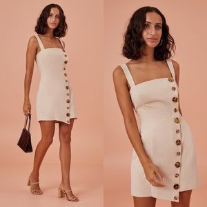 NWT Finders Keepers Natural Tia Button Front Dress